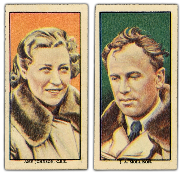 J A Mollison Amy Johnson Cards Front