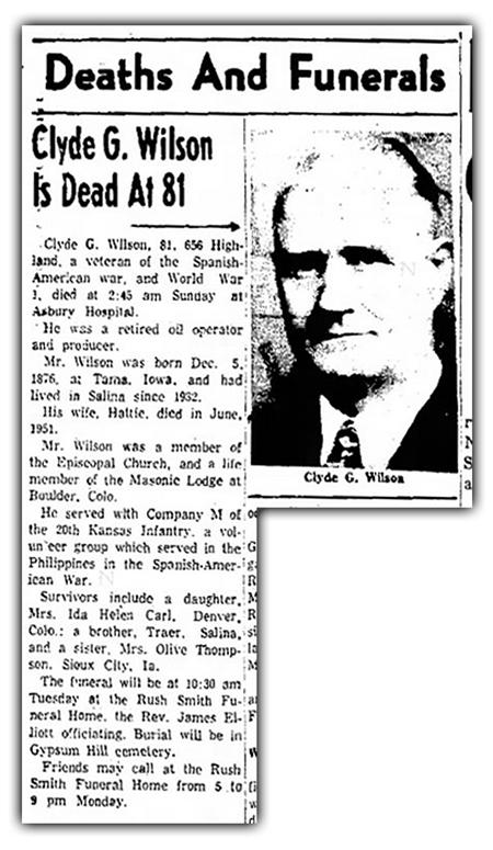 Clyde Wilson Obituary
