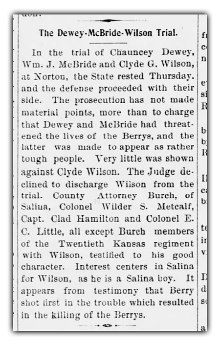 Clyde Wilson Trial