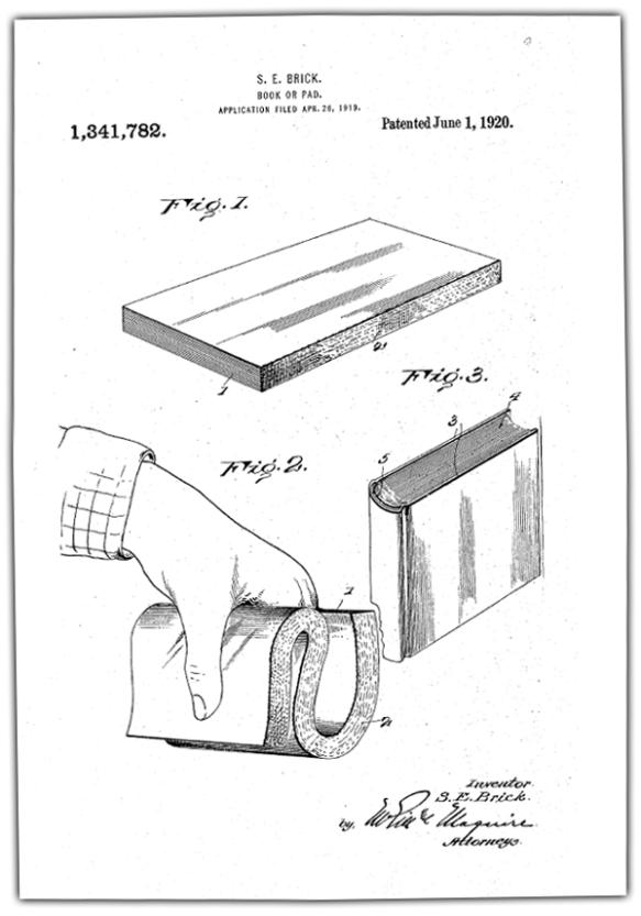 Elmer Brick Patent Drawing